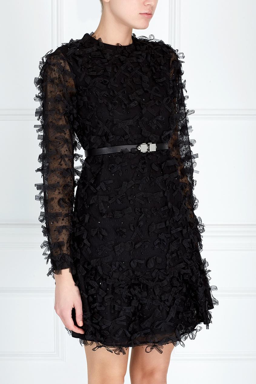 Платье из шелка и шерсти от AIZEL