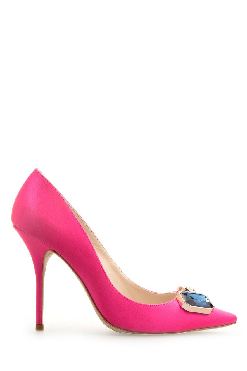 Кожаные туфли с кристаллами Lola от AIZEL